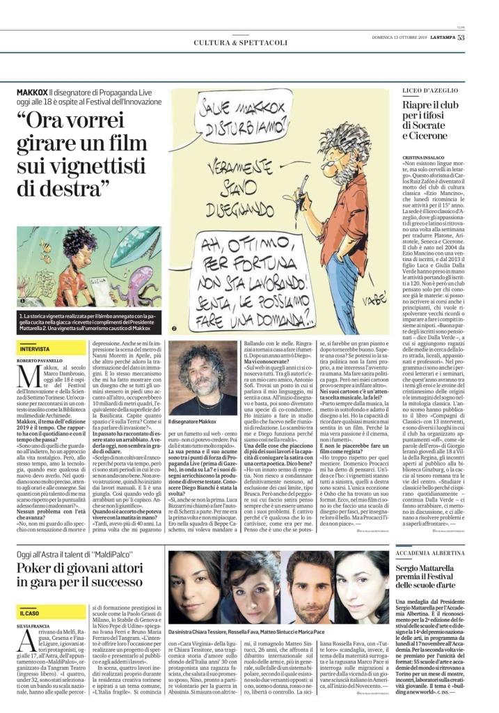 La Stampa, (p. 253), 13.10.2019