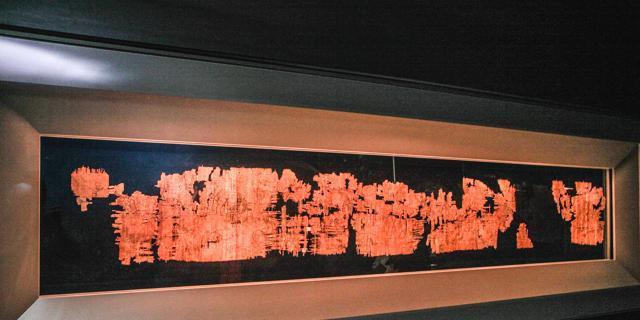 Il Papiro di Artemidoro in una foto de LaStampa