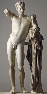 Prassitele, Hermes con Dioniso bambino