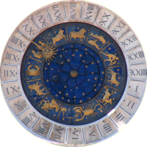 L'orologio di San Marco a Venezia con raffigurazione dello zodiaco